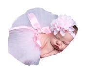 Little Kiddo Newborn Baby Girls Princess Photography Prop Tutu Skirt with Flower Headband Photo Props Outfits