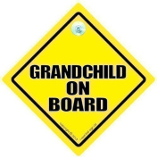 GRANDCHILDREN iwantthatsignltd Grandchild On Board, Car Sign, GrandBaby Sign, Grandchildren On Board