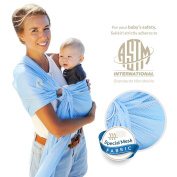 Lucky Baby Ring Sling with Breathable, Quick-Dry Mesh Fabric - Fashionable & Adjustable Carrier, Excellent for Summers, Beach, Pool & Shower. Suitable for Infants to Toddlers and all yr babywearing.