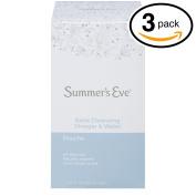 (Pack of 3 Bottles) Summer's Eve Extra Cleansing Douche Vinegar & Water, Feminine Wash, 130ml Bottles. PH Balanced, Naturally Inspired, & Gynaecologist Tested