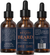 Moroccan Beard and Moustache Oil & Leave-In Conditioner 60ml- 100% Pure & Natural Unscented - Organic Argan Oil - Brooklyn Botany