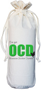 OCD - Obsessive Chicken Disorder - Natural Cotton Drawstring Wine Bottle Bag