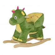 Knorr-Baby 60074 Rocking Dragon Mila with Sound - Green/Yellow