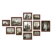 Solid wood photo wall photo wall photo wall photo wall neoclassical romantic album Cherry