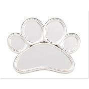 EQLEF® Cute Dog Paw Nail Art Palette Ring Mini Metal Mixing Palette For Manicure