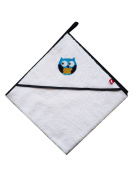 Linden 25201 Owl Bath Towel with Hood and Application, White