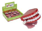 Pack of 4 Mini Jumping 4cm Wind up Novelty Teeth Dentures Toy