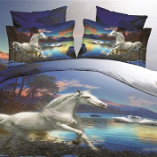 QHGstore High Quality Full 4pcs/set Bedding Set Horse and Swan 3D Printed Bedding Sets