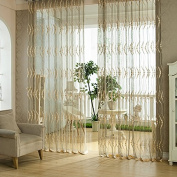 Miaoben Valances Floral Tulle Voile Door Window Curtain Drape Panel Sheer Scarf Divider