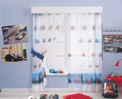 Curtain Panel for Child's Room with Disney Cars Motif 252 x 160 cm