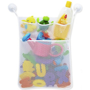 Kids Baby Bath Time Toys Storage Suction Bag Bed Hanging Bag Multi-purpose Sundry Bag