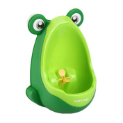 Toddler Boy Kid Toilet Frog Potty Urinal Stand Up Pee Wee Training-Green