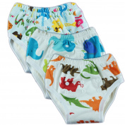 Adjustable Bamboo Minky Baby Training Pants Boys Changing Underwear Pack of 3