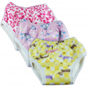 Adjustable Bamboo Minky Baby Training Pants Girls Changing Underwear Pack of 3