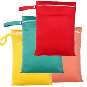 Pack of 4 Washable Baby Dry Nappy Bags Nappy Wet Bags Wetbags 30x40cm