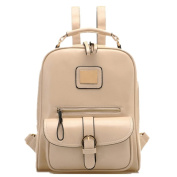 Yisidoo Fashion Women Vintage PU Leather Bag School Backpack Travel Bag