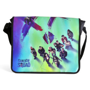 Suicide Squad Bag Joker Face Messenger Bag with all Film Heroes from Elbenwald