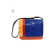 Made In Italy Vegetable Tanned Leather Messenger With 2 Compartments Colour Multicolor Tuscan Leather - Prestige Line