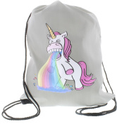 Unicorn Kotzendes Einhorn Gym Bag grey