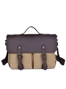 FAIRY COUPLE Washed Canvas Leather Laptop Briefcase C5677