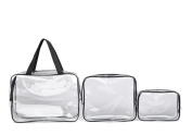 Cosmetic Bag, Lolittas Travel Must-Transparent Materproof Pouch Cosmetic Wash Bath Supplies