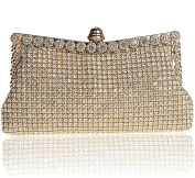 SCIONE Shining Evening Clutch Bag with Full Crystals Fashion Bling Bling Party Handbag