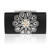 Feminine Glass Drill Handbag Evening Rectangle Clutch Bag Crystal Diamond Shoulder Bag