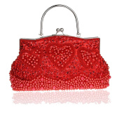 Antique Style Double Side Beaded Sequined Handbag Evening Handheld Bag Wedding Clutch Bridal Purse Cocktail Bag