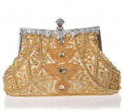 SCIONE Ladies Exquisite Evening Handbag Seed Bead Sequined Party Purse Prom Clutch Bag