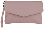 "Bags4Less ""Cameron"" Clutch / Evening bag / Women's bag made of genuine leather - pink"
