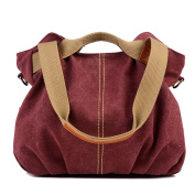 Comfysail Women's/Girl's Multiple Layers Leisure Canvas Removable Adjustable Strap Crossbody Tote Handbag Shoulder Bags for Travelling Shopping Trekking Sports and Daily Use