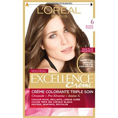 excellence creme coloration n6 blond fonc price per unit envoi rapide et - Coloration Excellence