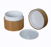 30Gram/ML Refillable Jars with PP Liners and Environmental Bamboo Appearance for Cream Bottle Pot Jars Cosmetic Comtainer