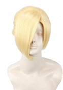 Topcosplay Attack ON Titan Annie Leonheart Short Blonde Cosplay Costume Hair Wig
