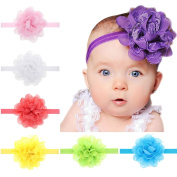 Golopoo 13PCS Hot Sale Cute Baby Girl Kid Toddler Headband Lace Flower Hairband 13 Colours