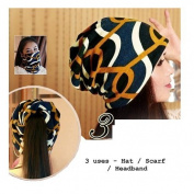 Dreadz 3-in-1 Multi-Function Tubular Beanie/Headwrap/Neckwarmer