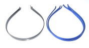 Set of 6 headbands in royal blue and black