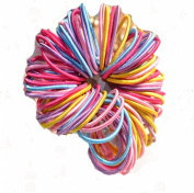 Westeng 100PCS Baby Girl Children Elastic Hair Tie Bands Small Thin Hair Elastics