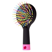 JZK® Rainbow Volume S Brush Hair Curl Magic Accessory Perm Wave Straight Beauty Comb Hair Comb with Mirror(UK Location)
