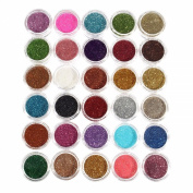 Eshion 30pcs Mixed Colours Pigment Glitter Mineral Makeup Eyeshadow Cosmetic Set