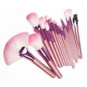 Lychee Beautiful 22pcs Soft Professional Makeup Brushes Cosmetic Make Up Brush Set Kit Foundation with Free Faux Leather Pouch Bag Case