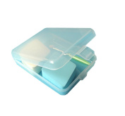 6 PCS Plastic Square Shaped Storage Box Collection Container Case with Lid Transparent