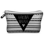 Hakuna Matata Aztec Make Up Bag Cover Case Cosmetics School Pencil Case Hipster Design Instagram Emoji