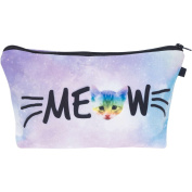 Meow Rainbow Cat Make Up Bag Cover Case Cosmetics School Pencil Case Hipster Design Instagram Emoji