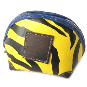 "Toilet kit 'Gabs'black yellow (tiger)- 15x10x10 cm (5.91""x3.94""x3.94"")."