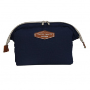 Qearly Simple Travel Cosmetic Bag Storage Makeup Organzier Toiletry Bag-Navy Blue