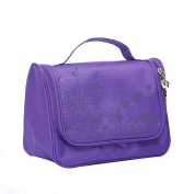 Qearly Lovely Waterproof Oxford Travel Toiletry Bag Cosmtic Makeup Bag-Purple