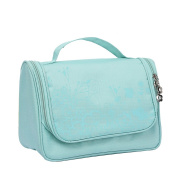 Qearly Lovely Waterproof Oxford Travel Toiletry Bag Cosmtic Makeup Bag-Light Green