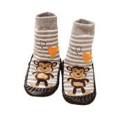 Vovotrade® Baby Boys Girls Kids Cute Cartoon Monkey Toddler Anti-slip Sock Shoes Boots Slipper Socks Age 0-6 18 24 months Grey
