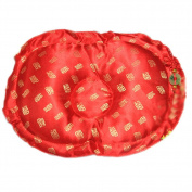 RED Bless Infant Flat Head Protective Baby Satin Toddler Silkworm Sand Pillow